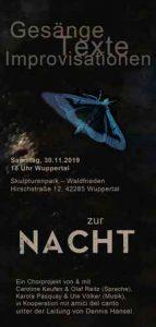 ZUR NACHT - Gesänge Texte Improvisationen